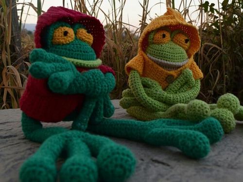 Rana Amigurumi Tejido Crochet En Hilo De Algodón Hipoalerg