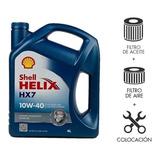 Cambio De Aceite Shell 10w40 Y Filtros Fox Suran - Maranello