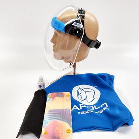 Mascara Protector Facial Acrilico Apolo Con Funda Portectora