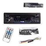 Radio Auto Panel Desmontable Bluetooth Mp3 Aux Usb / 213045