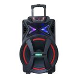 Caixa De Som Amvox Aca 501 Portátil Com Bluetooth Preta 110v/220v
