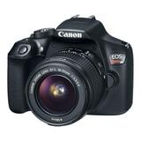 Canon Eos Rebel T6 18-55mm Iii Kit Dslr Color  Negro