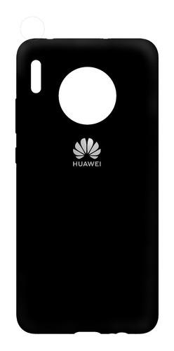 Funda Silicona Huawei Mate 30, 30 Pro, 30 Lite + Mica 9d