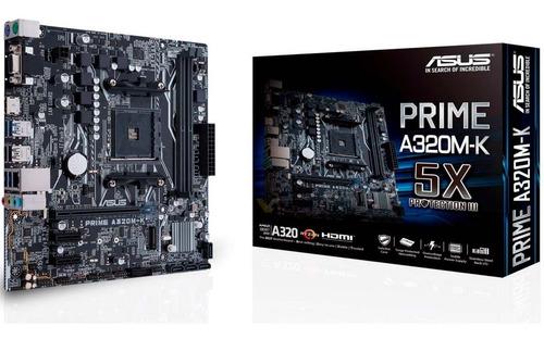 Motherboard Am4 Prime A320m-k Tarjeta Madre Asus Amd Ddr4
