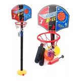 Set De Basketball Niños Aro + Pelota + Inflador + Red