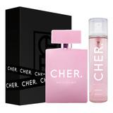 Set Perfume Mujer Cher Dieciocho 100 Ml Edp + Body Splash