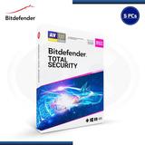Antivirus Bitdefender Total Security 2021 -5 Usuarios, 1 Año