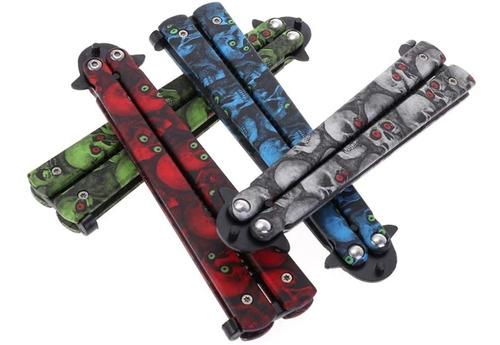 Cuchillo Mariposa Estilo Táctico De Aluminio P/entrenamiento