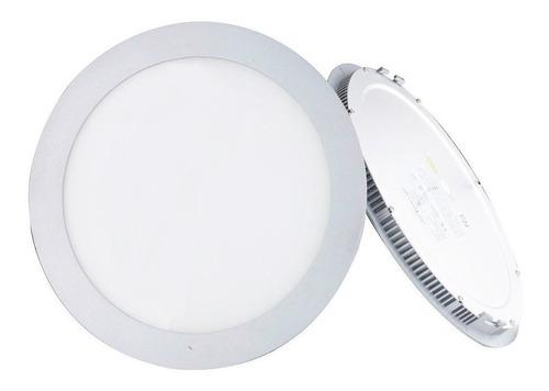 Panel Led 18w Embutir Incrustar Redondo Luz Blanca Certifica