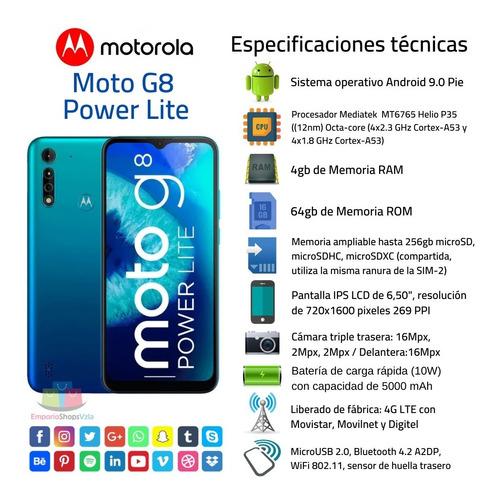 Telefono Celular Motorola Moto G8 Power Lite 64gb+4gb Tienda