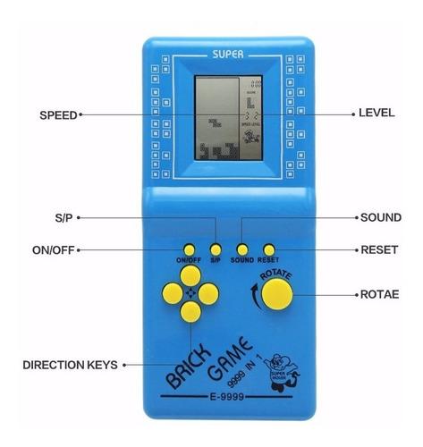 Consola De Juegos Tetris ! Game 9999 In 1 Clasicos!!!