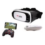 Óculos 3d Virtual Vr Box Android Ios Com Controle De Realidade