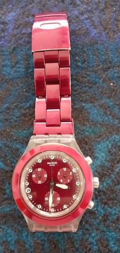 Reloj Ivony Chrono Diaphane Swatch Hecho En Suiza