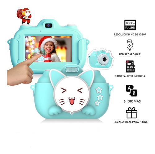 Camara Digital Niño Foto Video Pantalla Táctil Hd 1080p+32gb