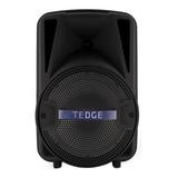 Alto-falante Tedge 8  Portátil Com Bluetooth Preto