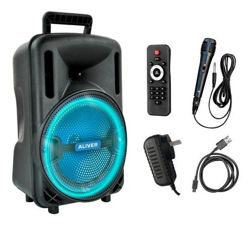 Parlante Bluetooth Karaoke 8 Pulgadas 3000w Fm Led Usb + Mic