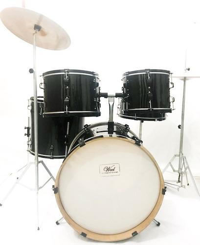 Bateria Musical Well Drums Completa 7 Peças Para Iniciantes