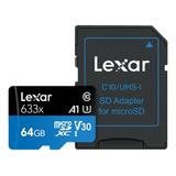 Tarjeta De Memoria Lexar Lsdmi64gbb-633a  High-performance 633x Con Adaptador Sd 64gb