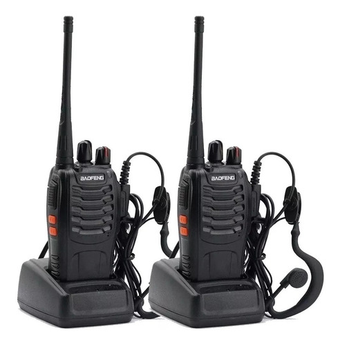 Kit X 2 Handy Baofeng Radio Walkie Talkie Bf888s 16ch Uhf