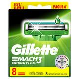 Repuestos Para Afeitar Gillette Mach3 Sensitive 8u