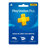Playstation Plus 3 Meses Ps4, Ps3 Psvita Envio Inmediato