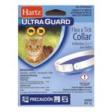 Collar Antipulgas 2 En 1 Gato Pulgas Garrapatas Color Blanco