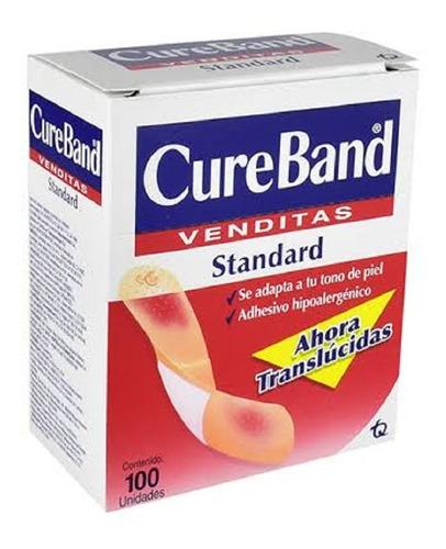 Cureband Translúcidas Curitas Con 100 Piezas
