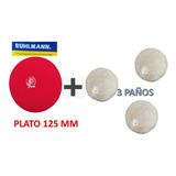 Pad Pulir + Disco Adaptador Amoladora Taladro Tigre Discos