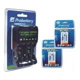 Cargador De Baterias 9v Y De Pilas + 2 Bateria 9v Recargables Microfonos  Local En Ramos Mejia