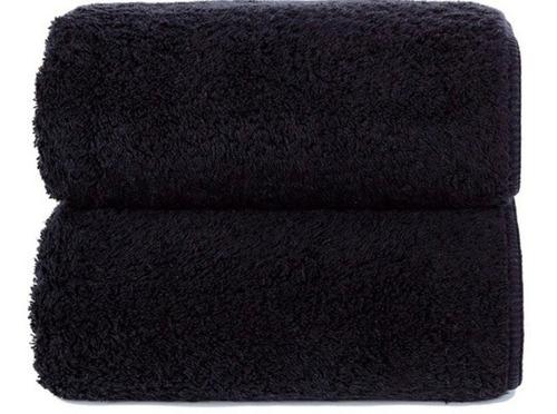 Juego De Toallas Negra 450 Grs/m2 (baño Y Mano)