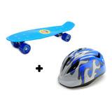 Skate Penny 57cm Patineta +casco Niños Tipo Profesional