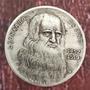 Moeda  Leonardo Da Vinci Moeda Comemorativa Antiga Original