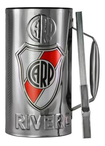 Vaso Guira River Plate Oficial Con Raspador Cumbia - Full