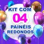 Kit 4 Painéis Redondos Sublimados 3d À Escolher 1,5 Diâmetro Original