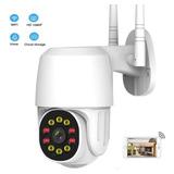Cámara De Seguridad Ip Full Hd Wifi 10 Led 1080p Con Alarma
