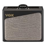 Amplificador Vox Av Series Av30 Combo Valvular 30w Negro Y Gris 220v