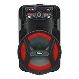 Caixa De Som Amvox Aca 188 Gigante Portátil Com Bluetooth Preta 110v/220v