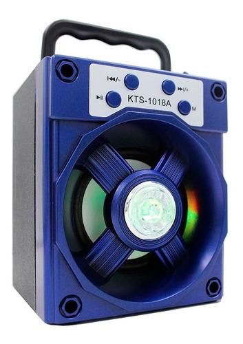 Parlante Bluetooth Inalámbrico Potente Con Luces Kts-1018a