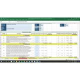 Hoja De Excel Para Cálculo De Presupuestos De Obra