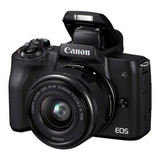 Canon Eos Kit M50 15-45mm Is Stm Mirrorless Cor  Preto
