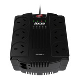 Estabilizador De Tensión Forza Fvr 1200va Series Fvr-1202a 1200va Entrada Y Salida De 220v Ca Negro