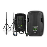 Parlante Pro Bass Power Stage 215 Con Bluetooth Negro 110v/220v