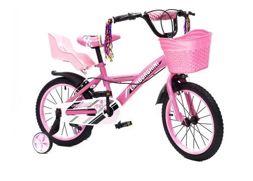 Bicicleta Infantil Lamborghini Nena Rodado 16 Baby Shopping