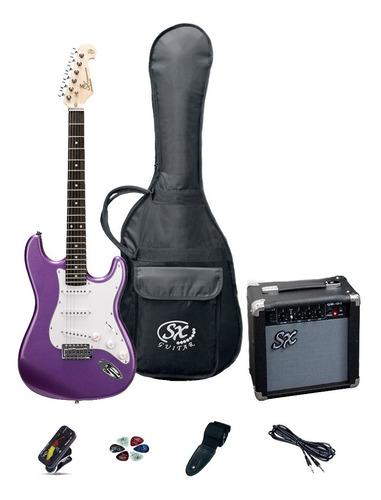 Combo Guitarra Eléctrica Stratocaster Sx Amplificador Funda