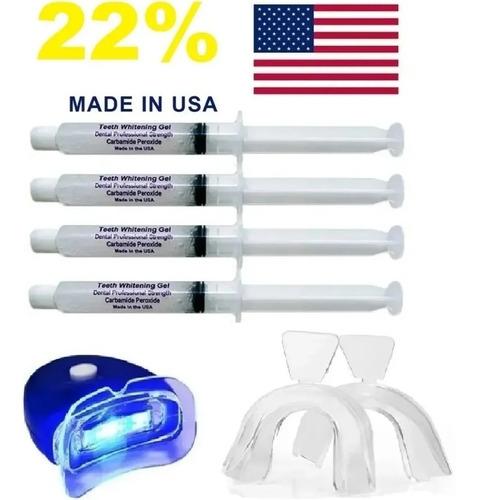 Kit Clareamento Dental Whiteness Gel 22% Clareador 4seringas