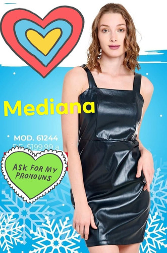 Hermoso Vestido Vinyl Mediana