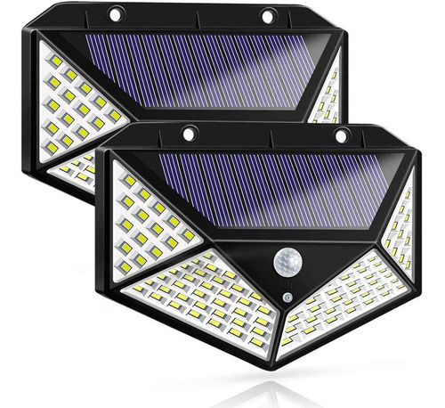Luminaria Solar De Seguridad Para Jardín/exteriores 2 Pzs.