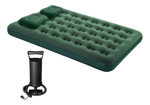 Colchon Inflable 2 Plazas Reforzado + Inflador +parche Refor