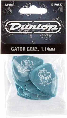 Set De Uñetas Dunlop Gator Grip 1.14 Pack De 12