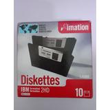Caja 10 Diskette Imation 1.44 Mb Sellada, Coleccionistas.